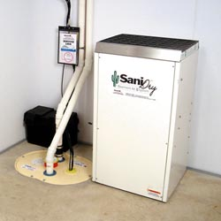 An ENERGY STAR® Rated basement dehumidifier installed in a home in [[custom_tbf_major_city_2]]