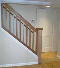 Renovated basement staircase