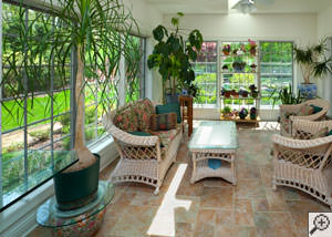 A cozy sunroom design in Garnerville
